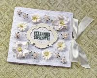 Свадебная кружевная открытка-конверт для денег (№4384, Готовая работа, 800р.)