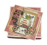 Ретро-открытка для женщины (в коробочке) (№6975, Готовая работа, 1200р.)