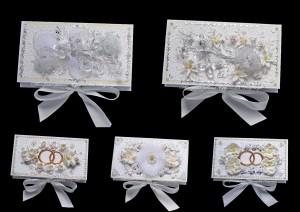 Свадебные коробочки для денег 5 шт