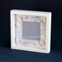 Свадебная объемная рамка для фотографии (№12487, Готовая работа, 2500р.)