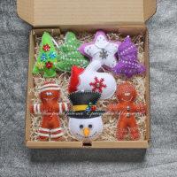 Набор елочных игрушек из фетра (№13238, Готовая работа, 2850р.)