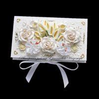 Свадебная коробочка для денег (№14212, Готовая работа, 1100р.)