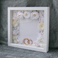 Свадебная объемная рамка для фотографии (№14240, Готовая работа, 2500р.)