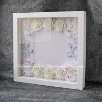 Свадебная объемная рамка для фотографии (№14241, Готовая работа, 2500р.)