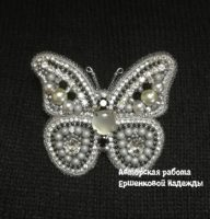 Брошь «Бабочка» (№14556, Готовая работа, 2450р.)