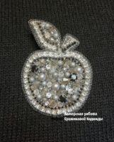 Брошь «Яблоко» (серебро) (№14600, Готовая работа, 2200р.)
