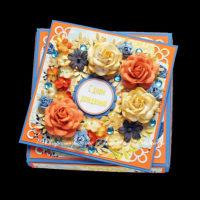 Открытка ко дню рождения (в коробочке) (№12860, Готовая работа, 1300р.)