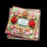 Открытка ко дню рождения (в коробочке) (№12898, Готовая работа, 1300р.)