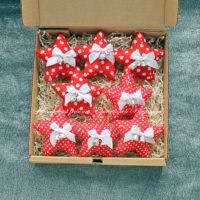 Набор елочных игрушек (звездочка) (№13345, Готовая работа, 500р.)