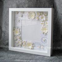 Свадебная объемная рамка для фотографии (№14238, Готовая работа, 2500р.)