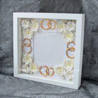 Свадебная объемная рамка для фотографии (№14239, Готовая работа, 2500р.)